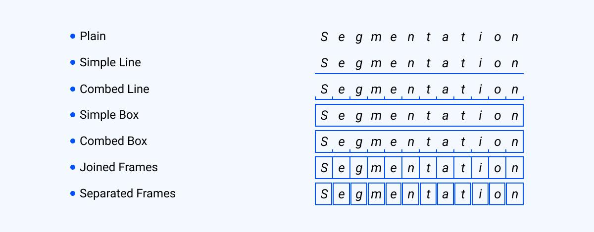 segmentation ICR forms
